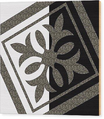 Looking For Balance Wood Print by Georgeta Blanaru