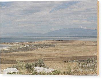 Looking North From Antelope Island Wood Print by Belinda Greb