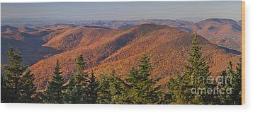 Looking North From Mount Equinox Wood Print