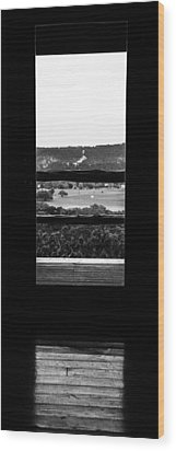 Wood Print featuring the photograph Looking Out A Country Door. by Darryl Dalton
