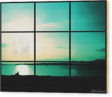 Wood Print featuring the photograph Looking Out My Window by Eddie Eastwood