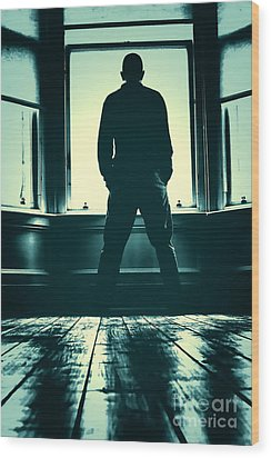 Looking Out Window Wood Print by Craig B