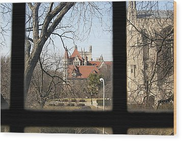 Looking Past The Window  Wood Print by Eugene Bergeron