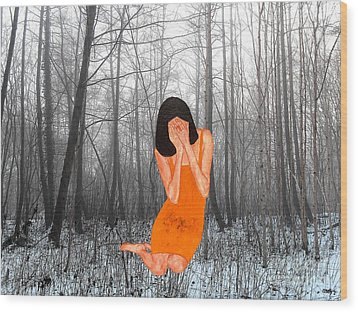 Looking Through My Fingers 3 Wood Print by Patrick J Murphy