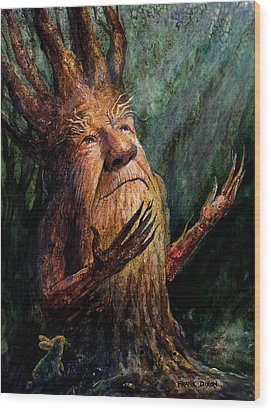 Looking To The Light Wood Print by Frank Robert Dixon