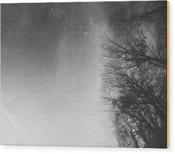 Looking Up At The Sky While Driving Wood Print by J Riley Johnson