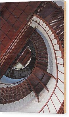 Looking Up Wood Print by Bernard  Barcos