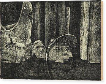 Looking Up Wood Print by David Honaker