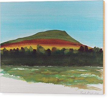 Wood Print featuring the painting Lookout Mountain Tn by Frank Bright