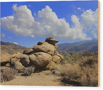 Wood Print featuring the photograph Lookout Rock by Michael Pickett