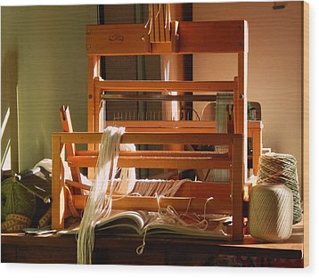 Wood Print featuring the digital art Loom In Winter Light by Aliceann Carlton