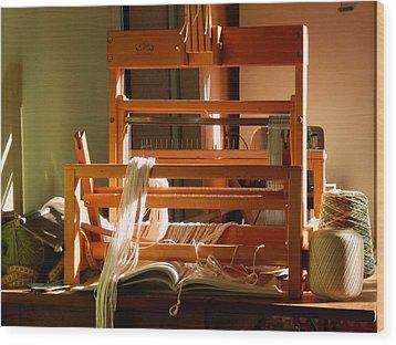Loom In Winter Light Wood Print by Aliceann Carlton
