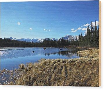 Looming Winter In The Rockies Wood Print
