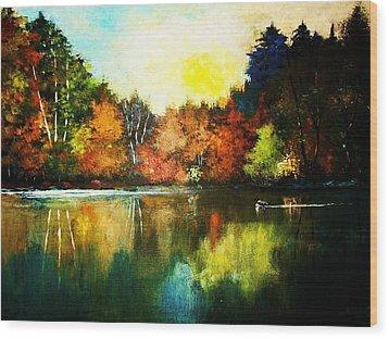Loon Country Wood Print by Al Brown