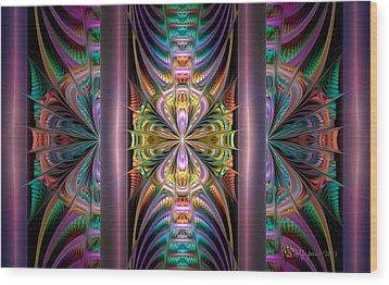 Loonie Behind Bars Wood Print by Peggi Wolfe