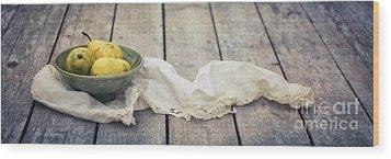 Loosely Draped Wood Print by Priska Wettstein