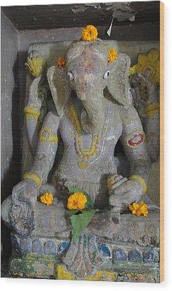 Lord Ganesha Wood Print by Makarand Kapare
