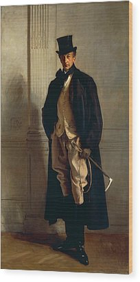 Lord Ribblesdale Wood Print by John Singer Sargent