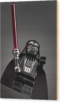Lord Vader Wood Print by Samuel Whitton