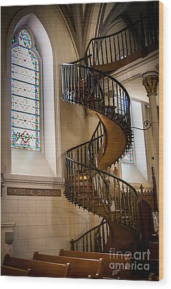 Loretto Chapel Staircase Wood Print by Jim McCain