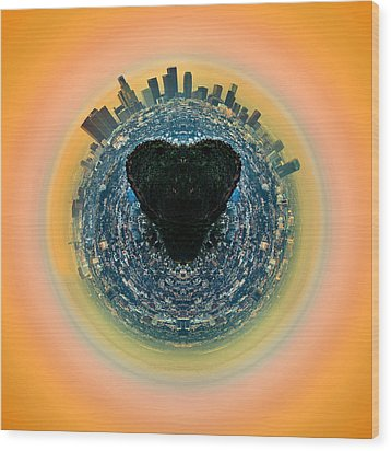 Love La Wood Print by Az Jackson