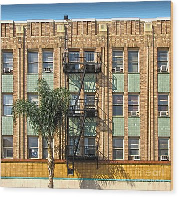 Los Angeles Facade Wood Print by Gregory Dyer