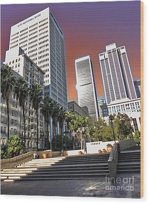 Los Angeles Historic Center Wood Print by Gregory Dyer