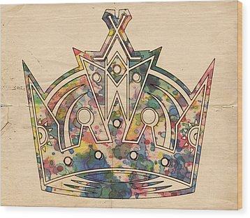 Los Angeles Kings Logo Poster Wood Print