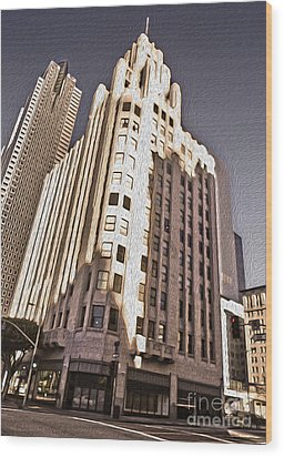 Los Angeles  - Title Guarantee Building Wood Print by Gregory Dyer