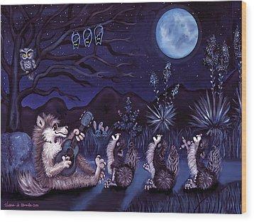 Los Cantantes Or The Singers Wood Print by Victoria De Almeida