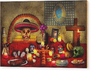 Los Dios Muertos - Rembering Loved Ones Wood Print by Mike Savad