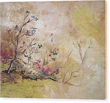 Los Horgolitos 2 Wood Print by Doris Cohen