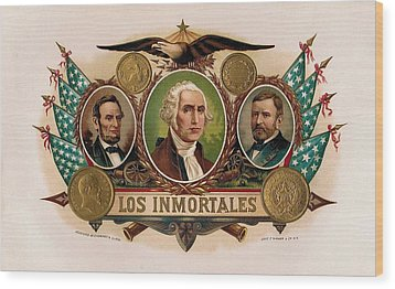 Los Inmortales Cigar Box Label Wood Print