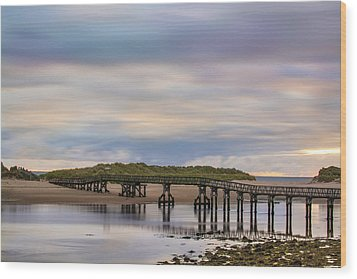 Lossiemouth Walk Bridge Wood Print