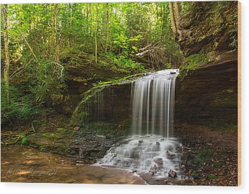 Wood Print featuring the photograph Lost Creek Falls by Kelly Marquardt