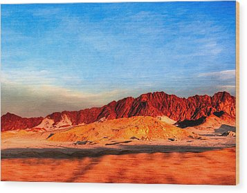 Lost Egyptian Landscape Wood Print by Mark E Tisdale