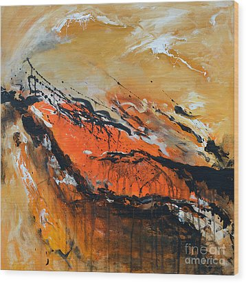Lost Hope - Abstract Wood Print by Ismeta Gruenwald