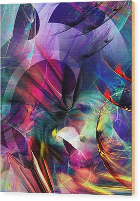 Wood Print featuring the digital art Lost In Hyperspace by David Lane
