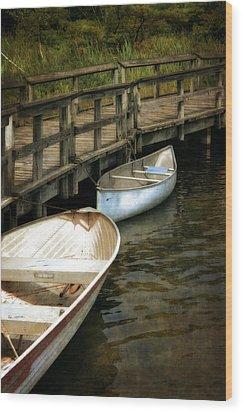 Lost Lake Boardwalk Wood Print by Michelle Calkins