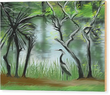 Lost Lake Wood Print by Jean Pacheco Ravinski