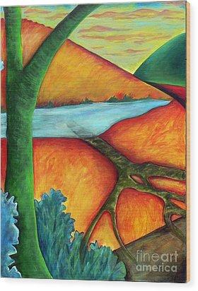 Lost Land 1 Wood Print by Elizabeth Fontaine-Barr