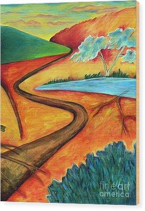 Lost Land 2 Wood Print by Elizabeth Fontaine-Barr