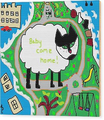 Lost Sheep Wood Print by Anita Dale Livaditis