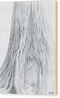 Lothlorien Mallorn Tree Wood Print by Curtiss Shaffer