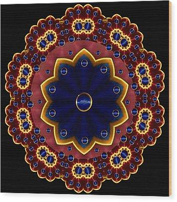 Lotus Bloom Wood Print by Pepita Selles