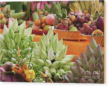 Lotus Buds 02 Wood Print