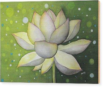 Lotus Dream Wood Print by Oiyee At Oystudio