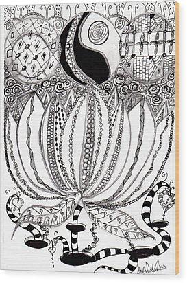 Lotus Flower Wood Print by Barbara Giordano
