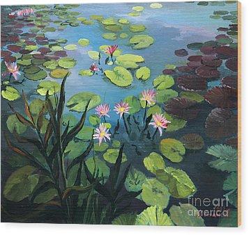Lotus Flowers  Wood Print by Kiril Stanchev