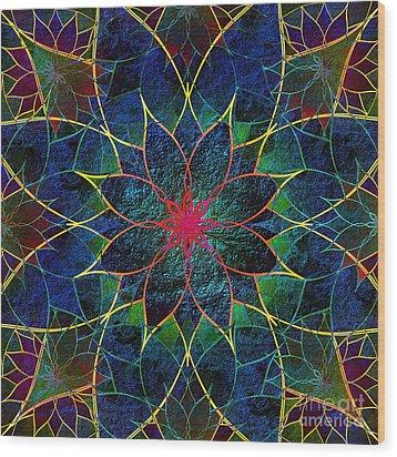 Lotus Wood Print by Klara Acel